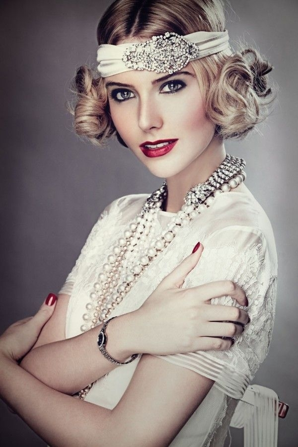 Great Gatsby inspired hairstyles from 1920's