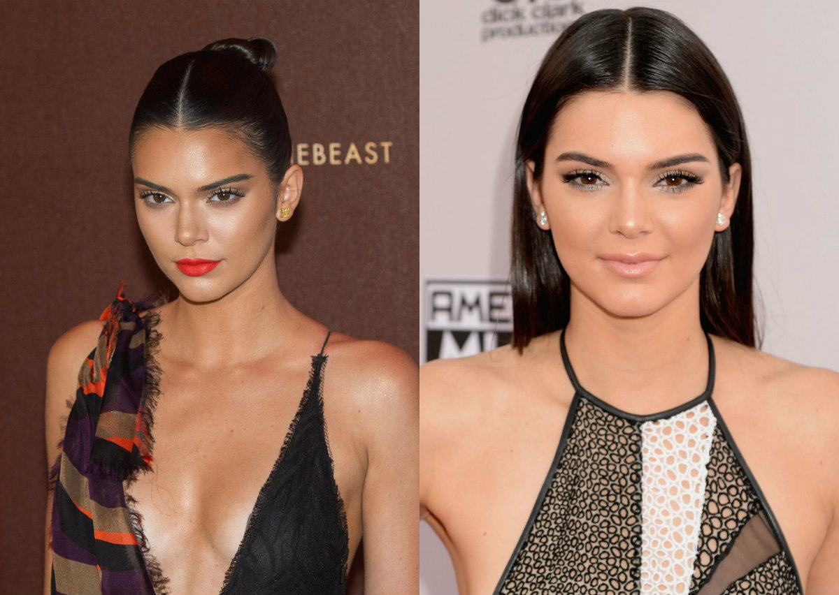 Top popular middle part hairstyles hairdrome kendall jenner mid part hairstyles urmus Gallery