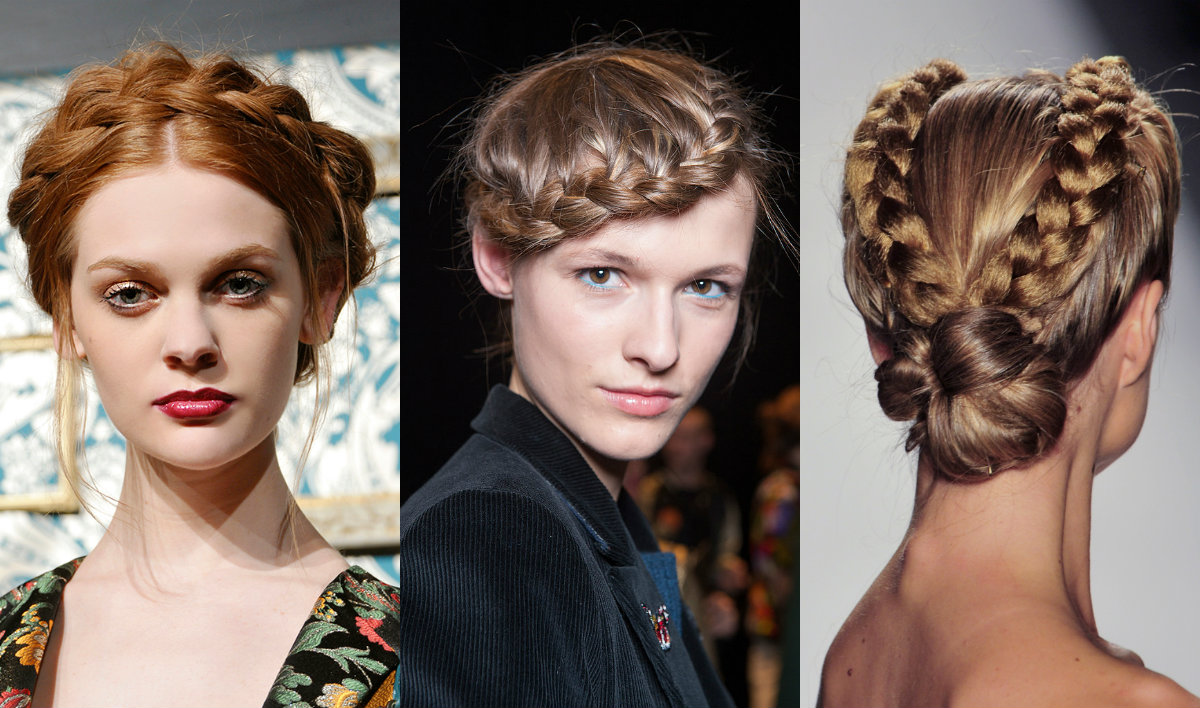 bridal braids ideas from runways