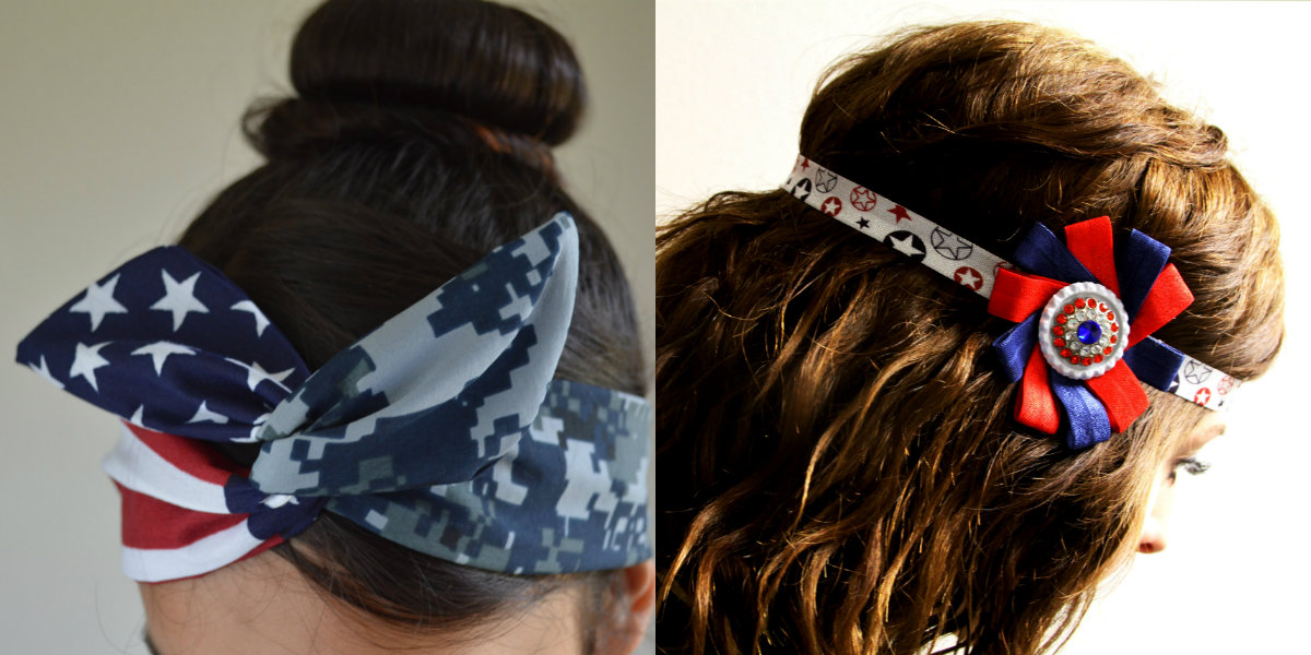 july 4th hair accesories