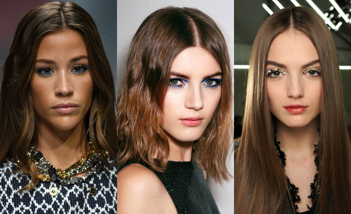 runway middle part hairstyles