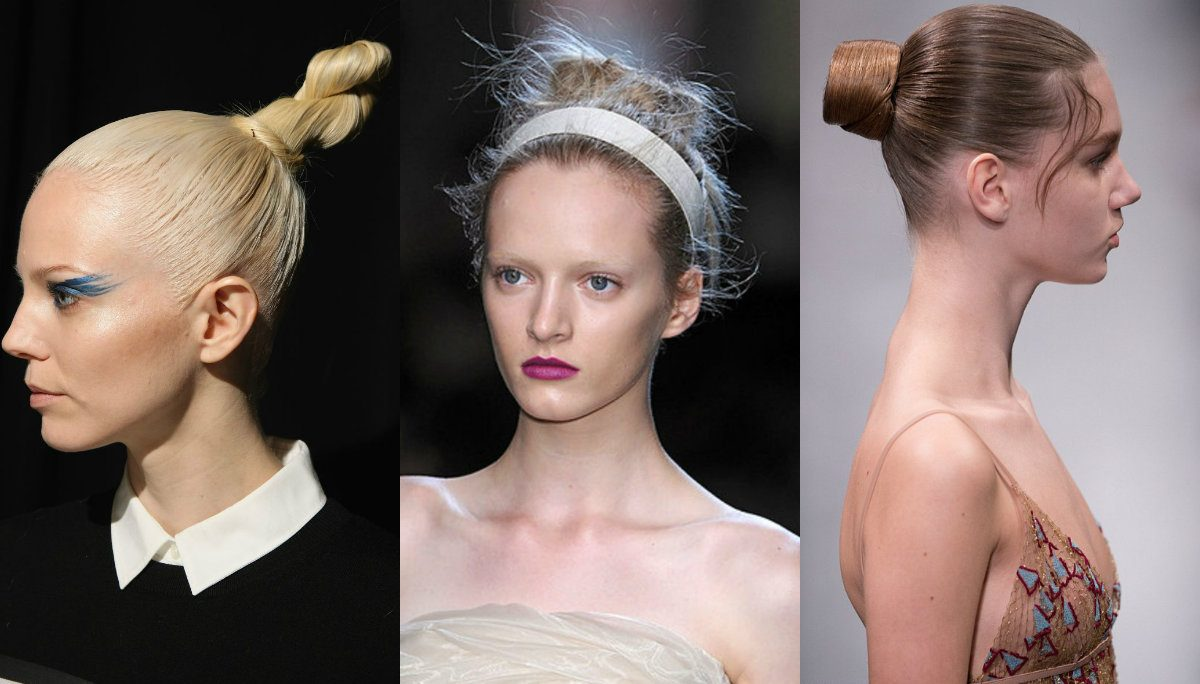 runway top knots for brides