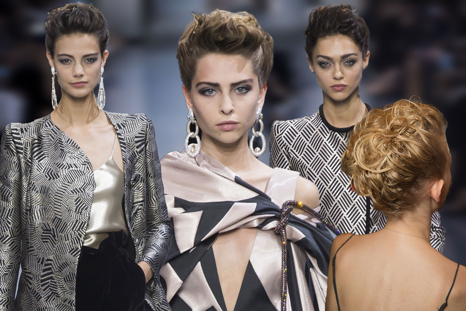 Armani Privé updo hairstyles 2017