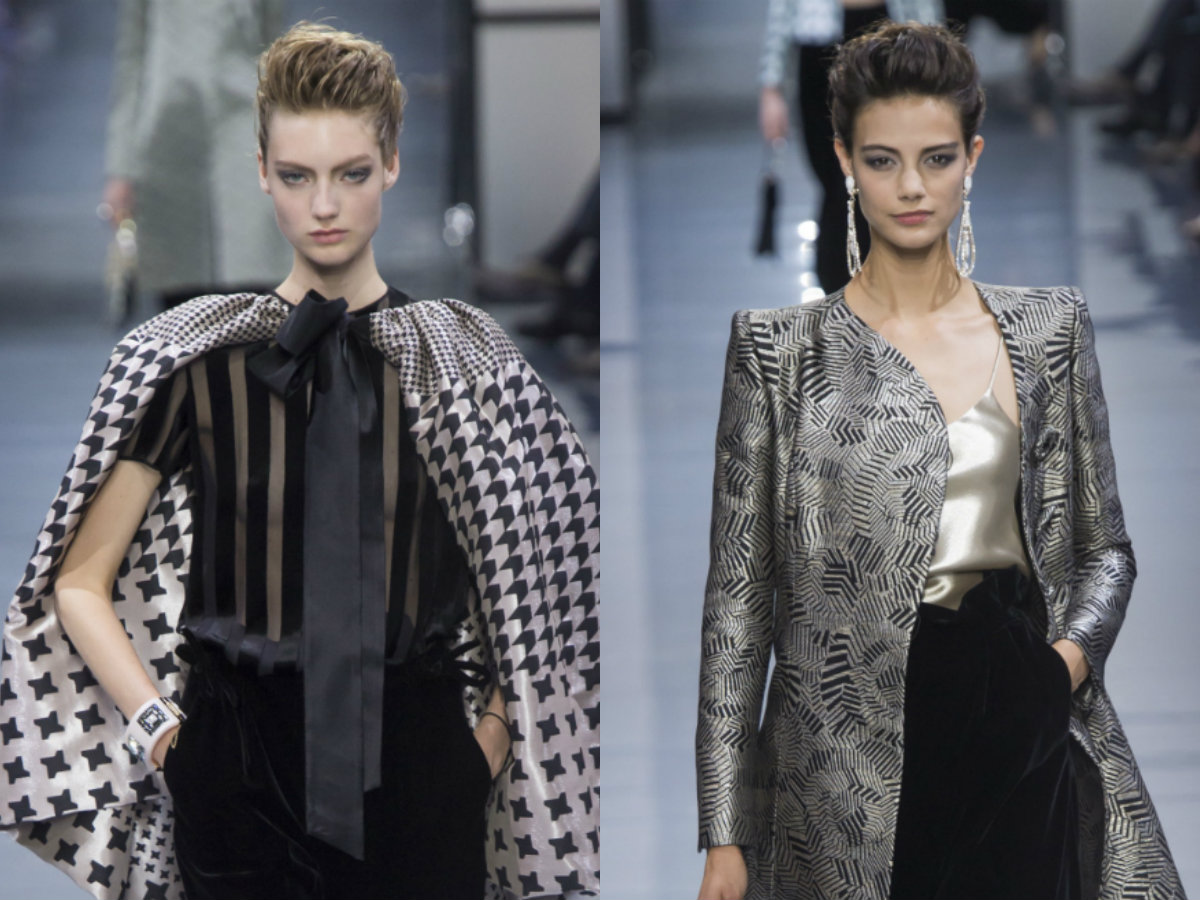 Armani updo hairstyles 2017 Couture