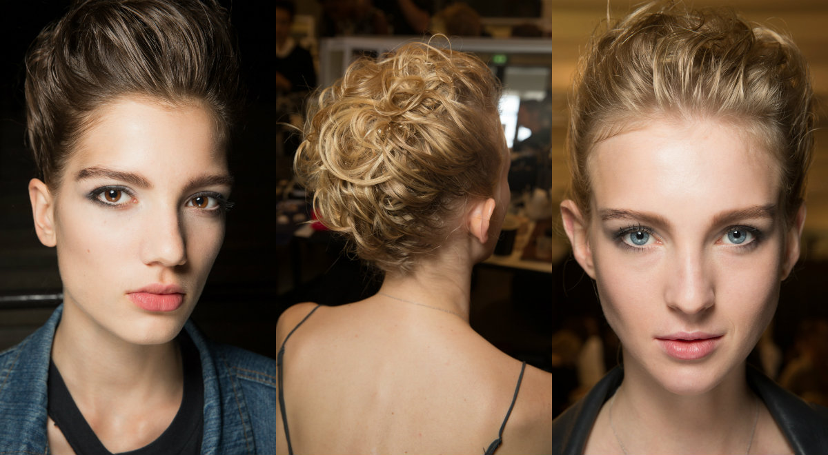 Armani updo hairstyles Couture fall 2016