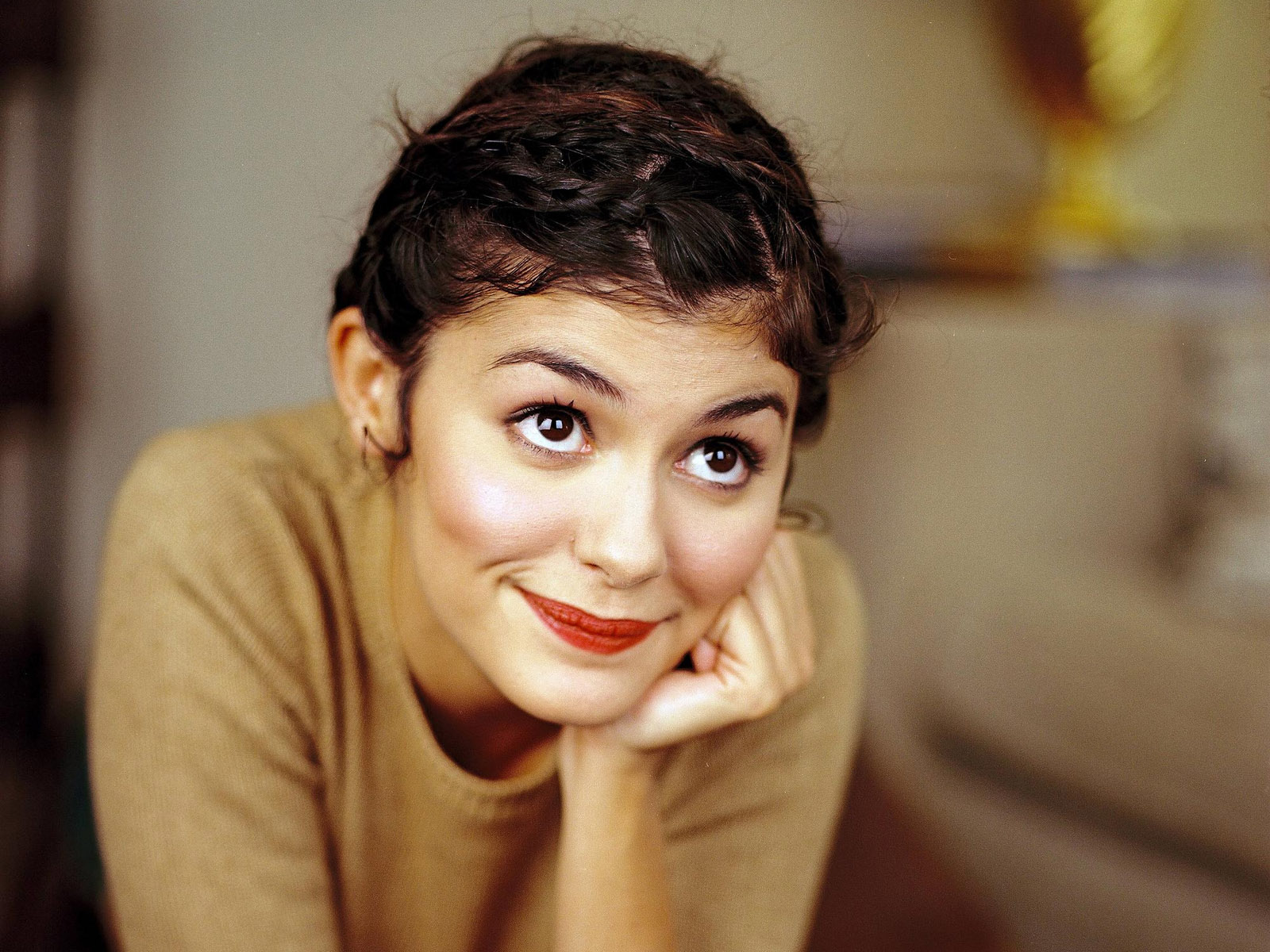 Audrey Tautou braided pixie hairstyles