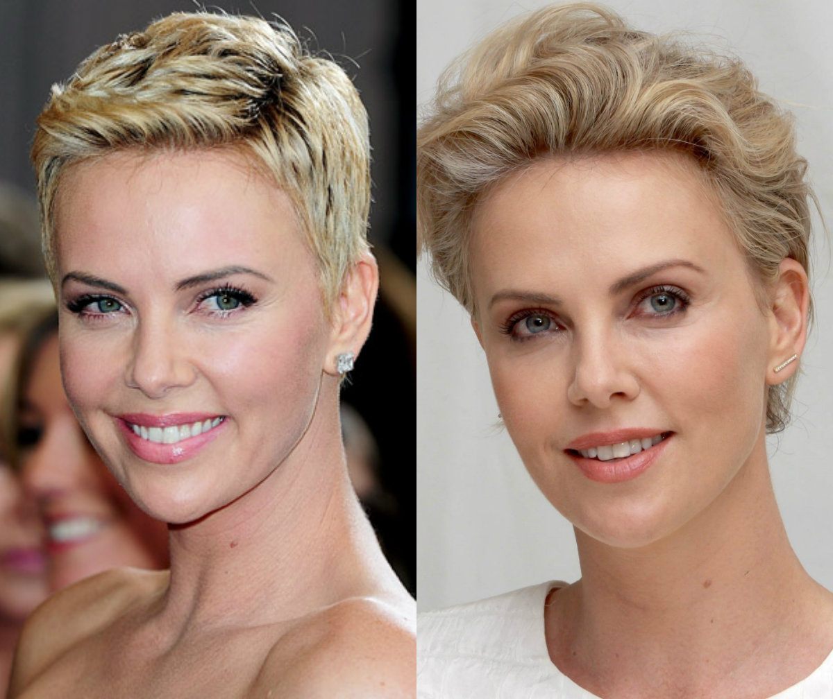 Charlize Theron pixie haircuts