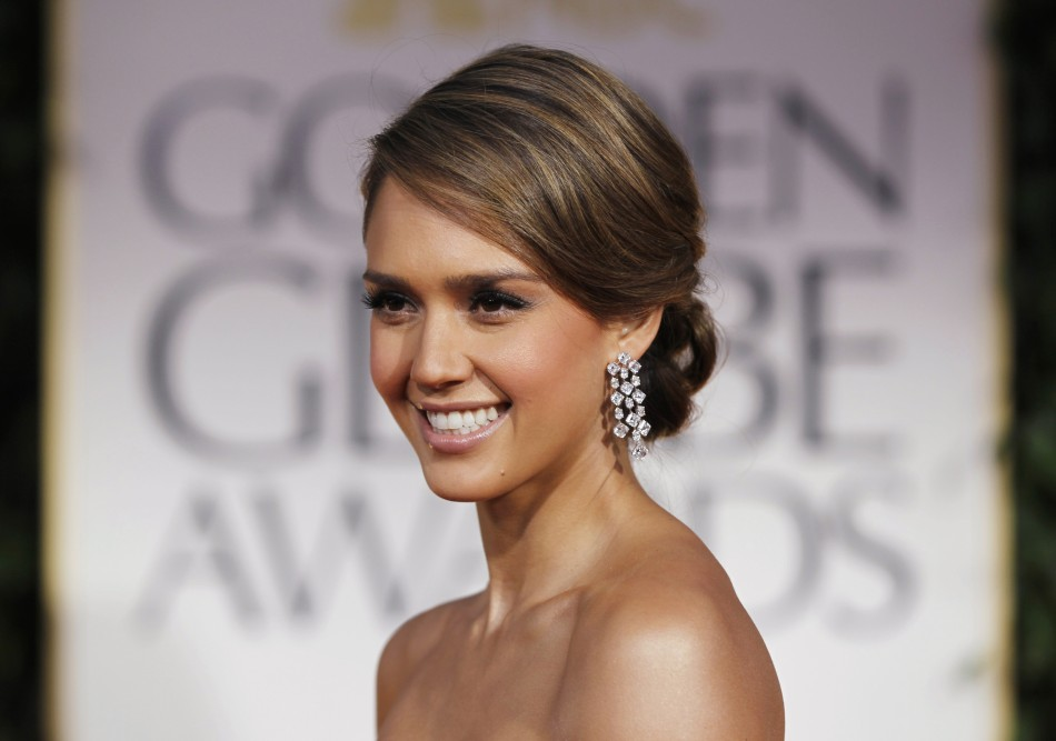 Jessica Alba updos for wedding