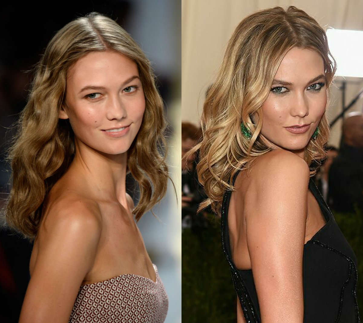 Karlie Kloss mid length hairstyles
