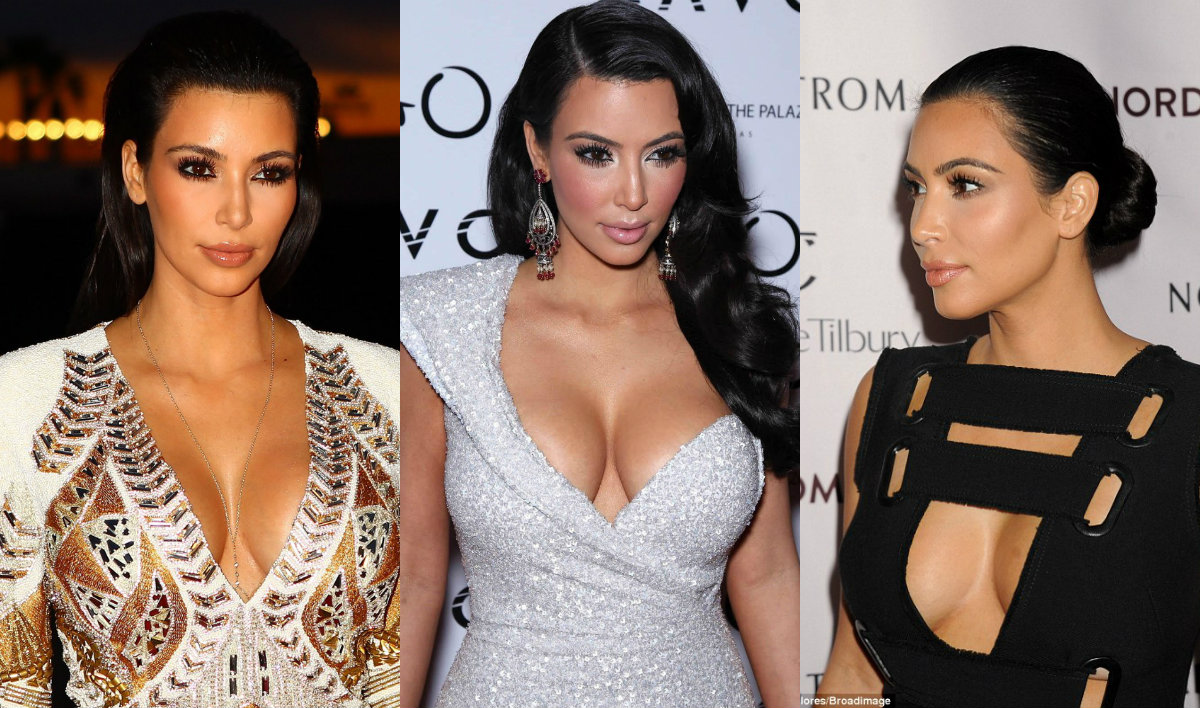 Kim Kardashian brunette hair colors