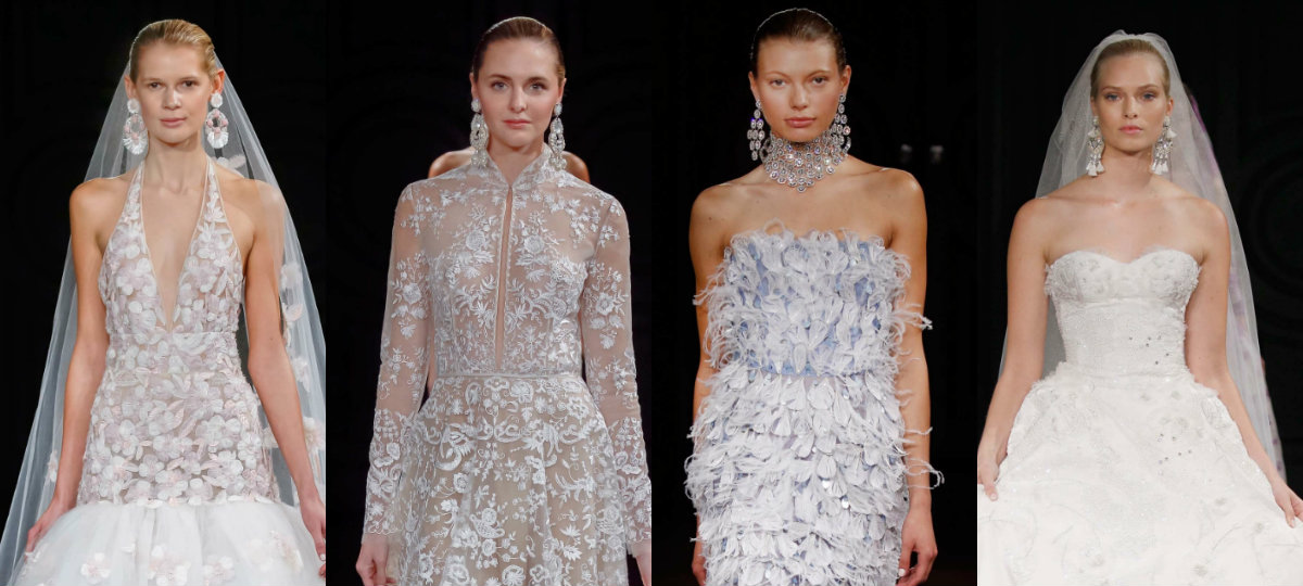 Naeem Khan slicked bun bridal hairstyles SS17