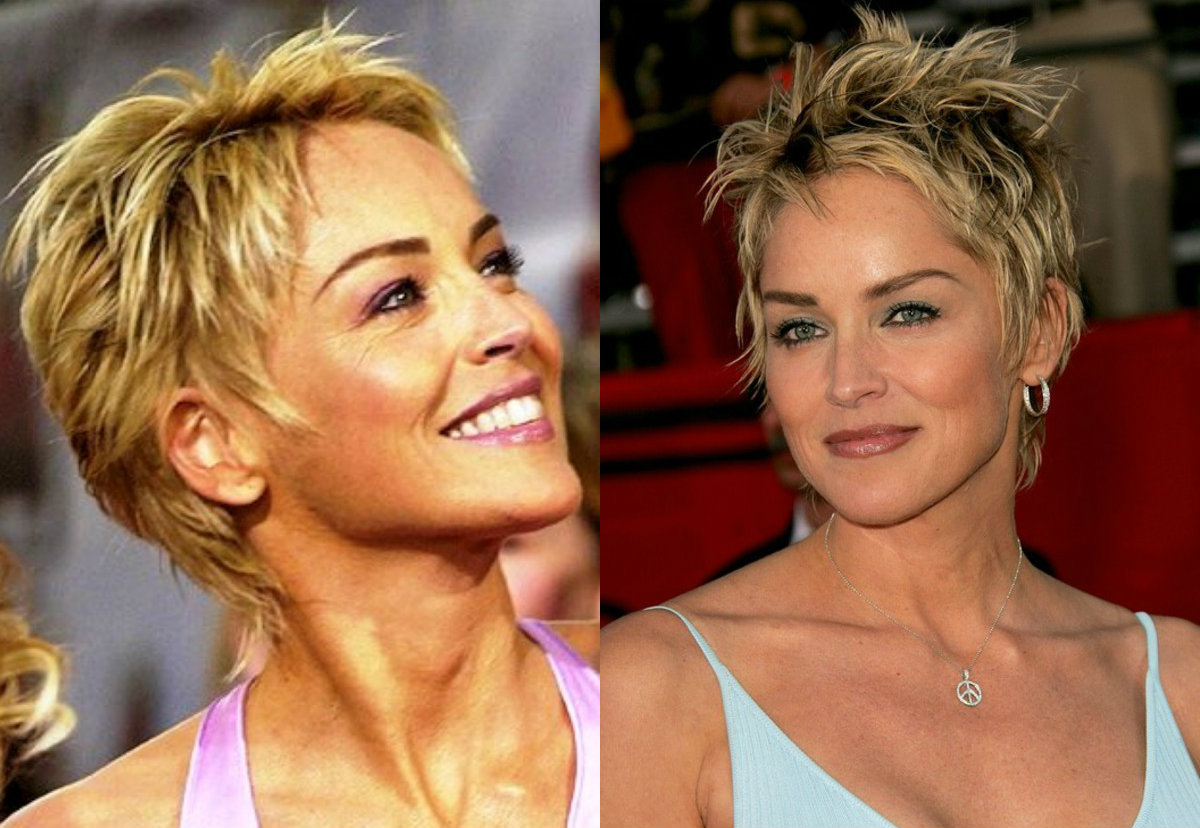 Sharon Stone pixie haircuts