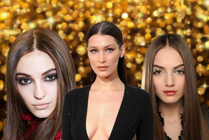 best middle part hairstyles