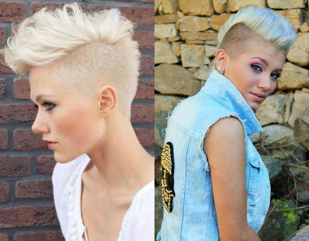2019 year looks- Mohawk best and fauxhawk hairstyles for women