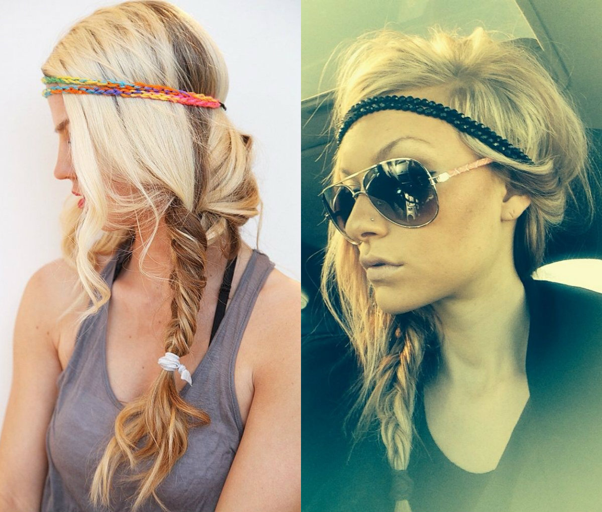 boho braids with headband