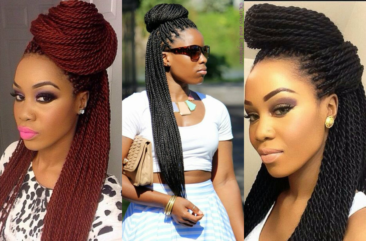 Box Braids Bun Hairstyles You Will Swear With | Hairstyles ...