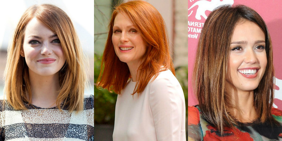 celeb red lob hairstyles