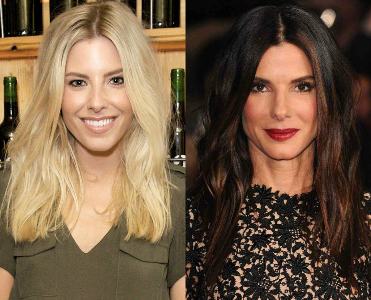 celebrity middle part beach waves hair