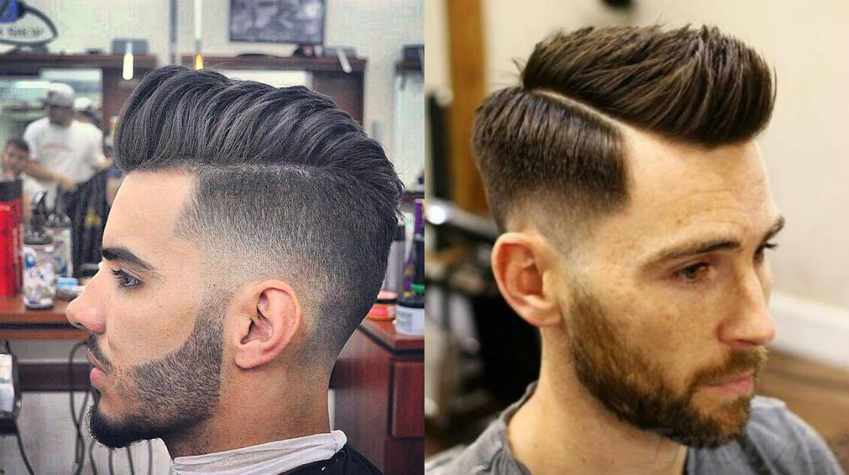 fade pompadour haircuts for men