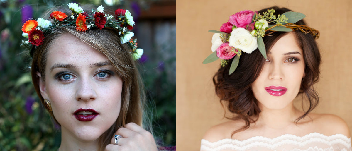 floral wedding hairstyles for summer