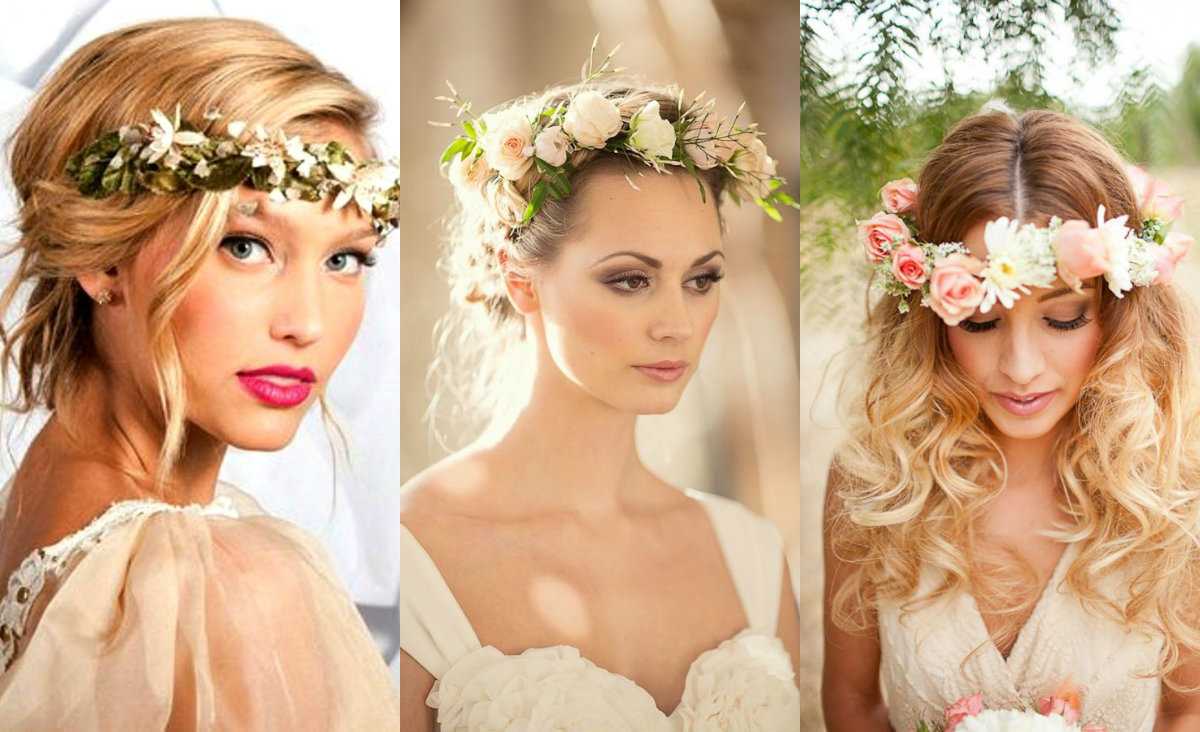 Flower crown wedding hairstyles to marry this summer hairstyles flower crown wedding hairstyles izmirmasajfo Choice Image