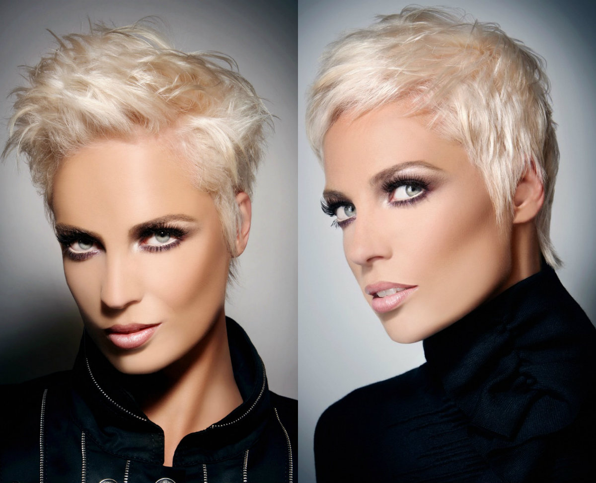 ice blonde pixie hairstyles