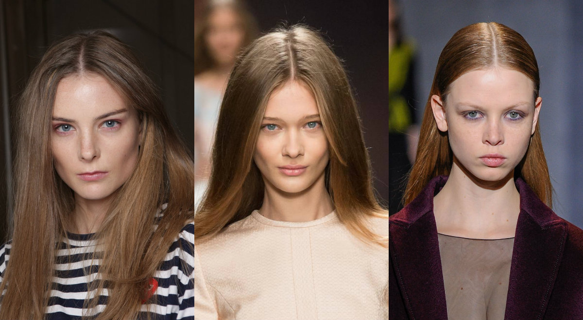 long straight center part hairstyles
