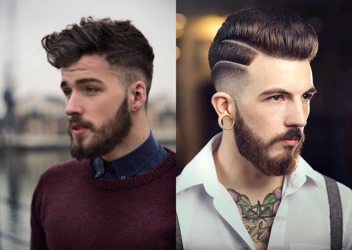 male fade haircuts pompadour