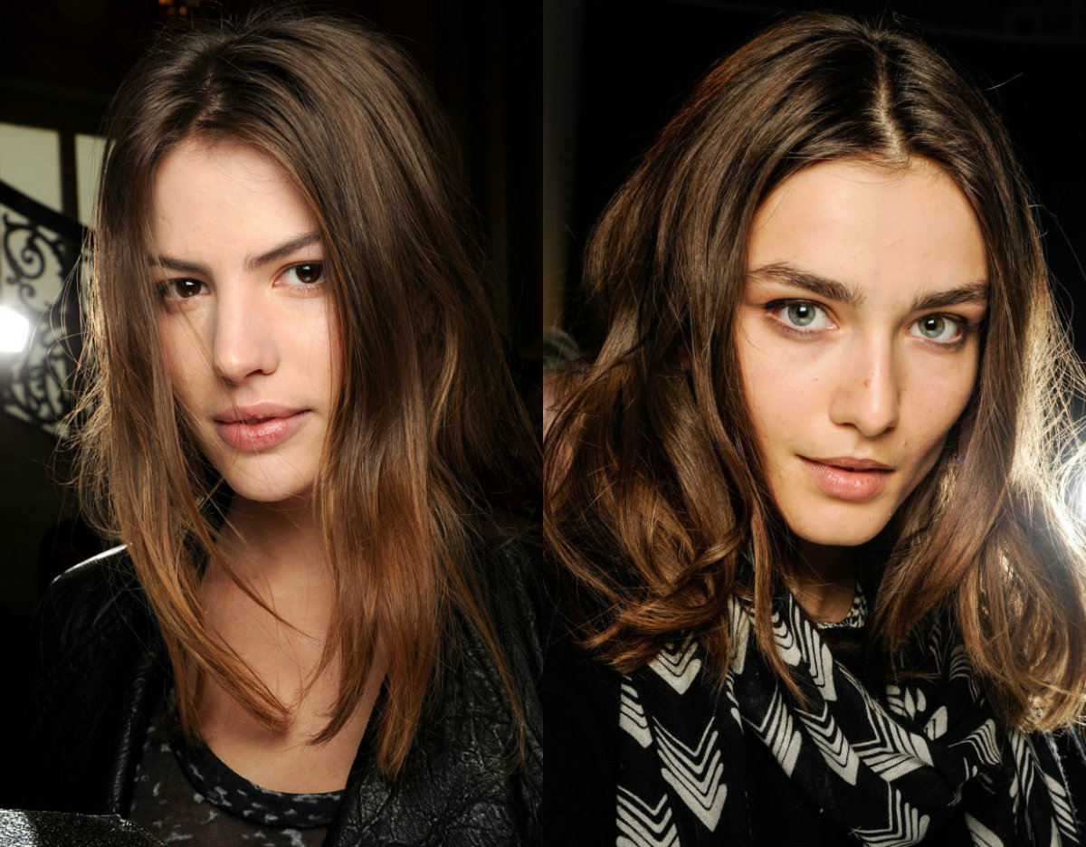runway brunette mid length hair