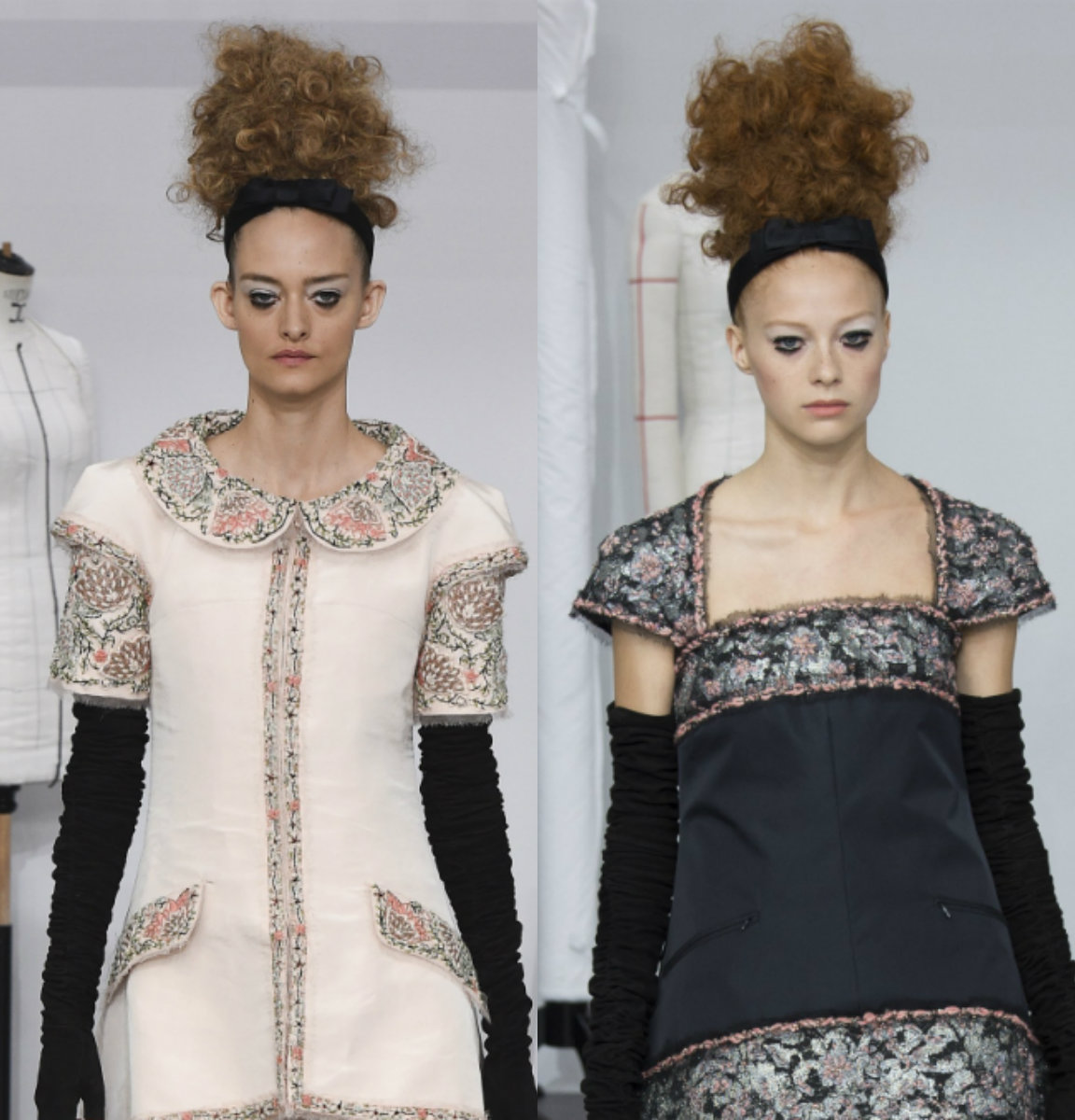 runway curly updo hairtsyles Chanel