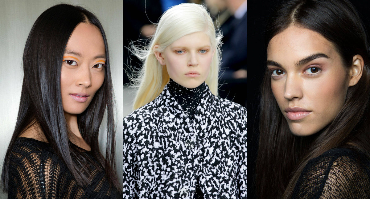 runway long straight hairstyles