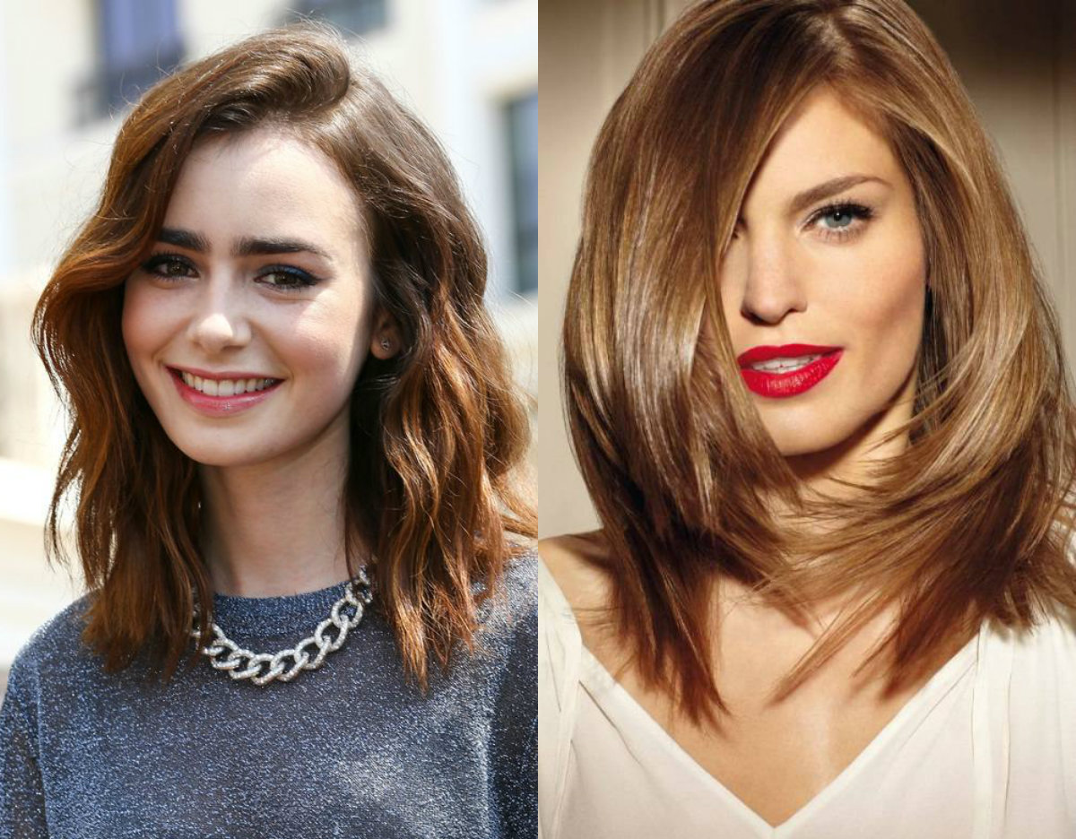 side swept medium hairstyles