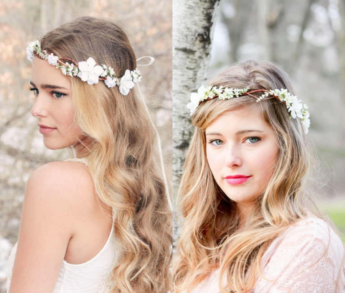 Flower crown wedding hairstyles to marry this summer hairstyles thin flower crown bridal hairstyles izmirmasajfo