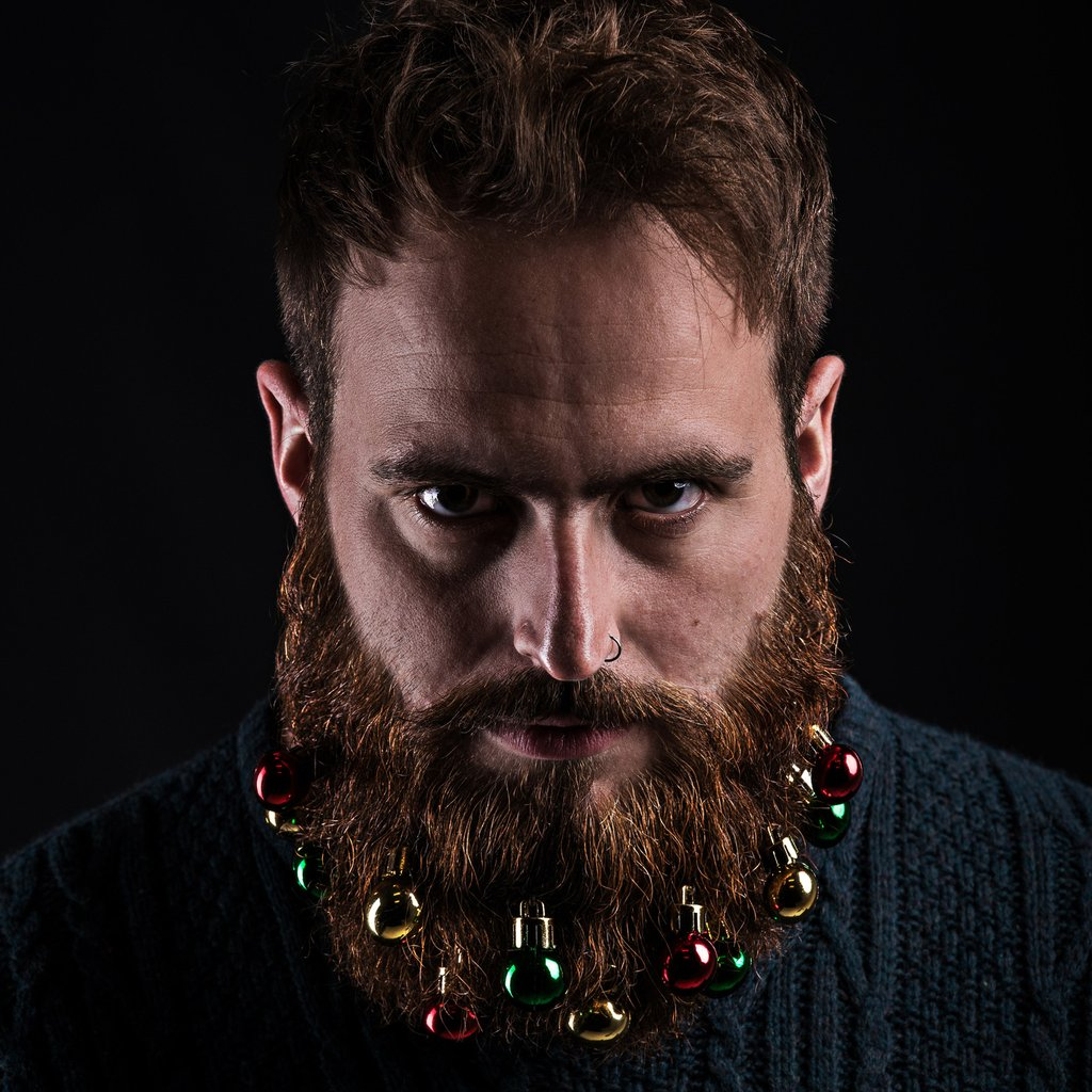 Beard Christmas accesories for mens hair