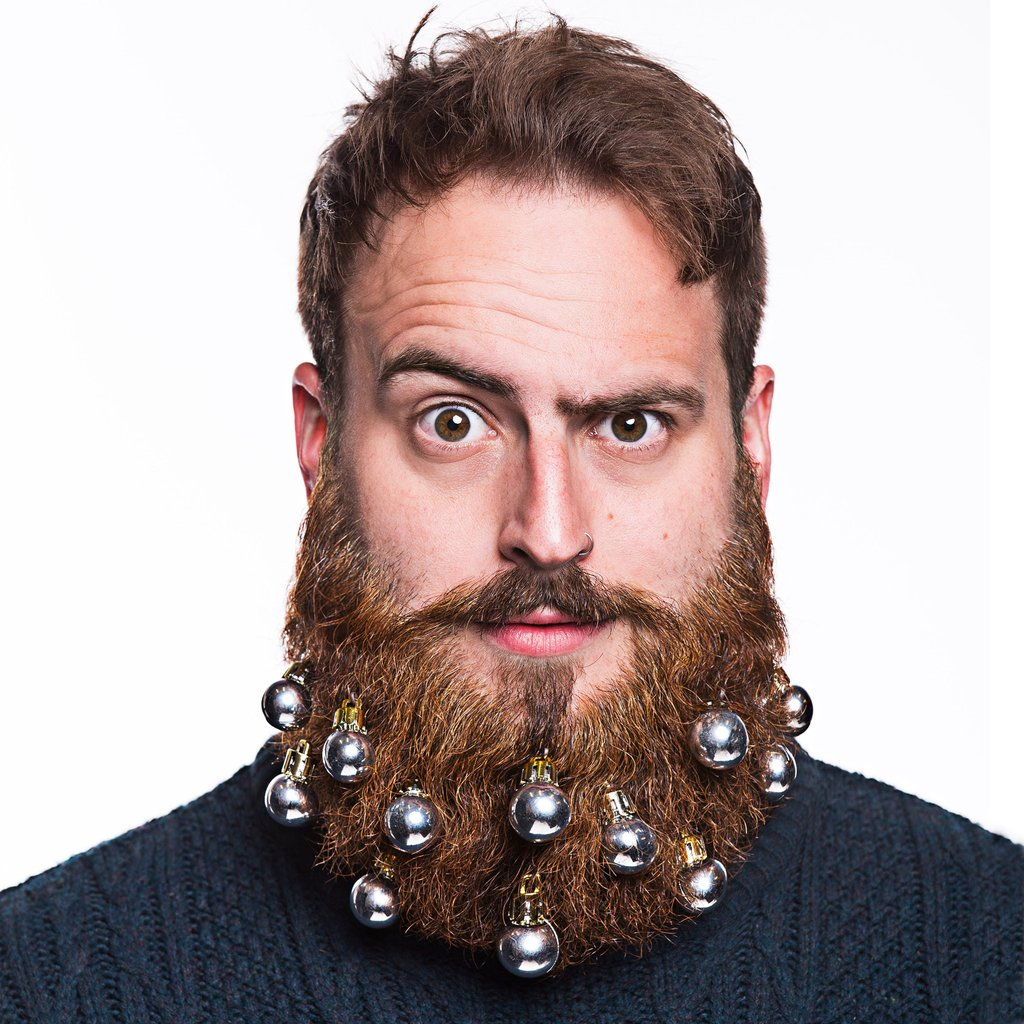 Funny Christmas Beard Decoration & Men's Hairstyles ... Beard Ornaments
