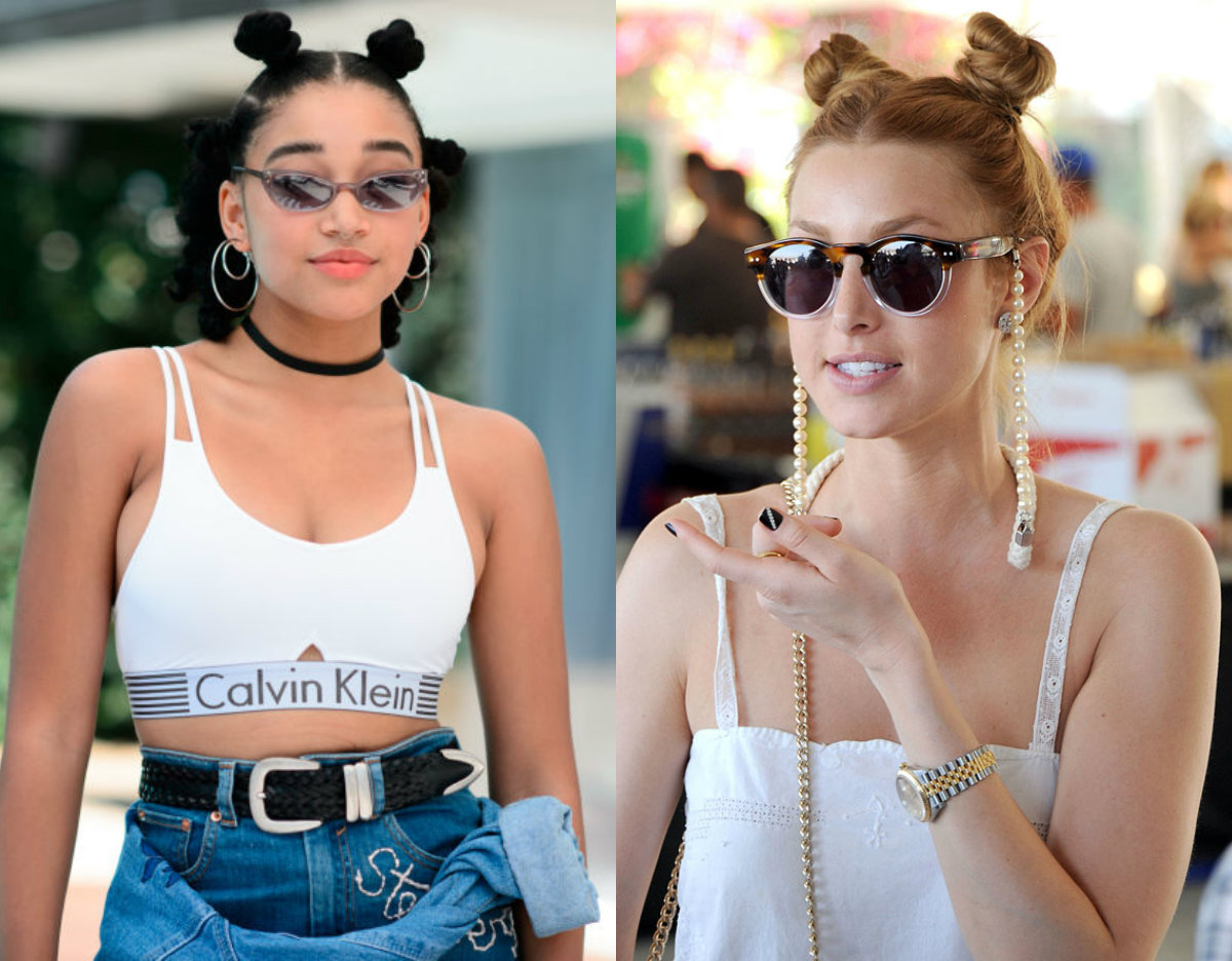 Coachella top knots hairstyles