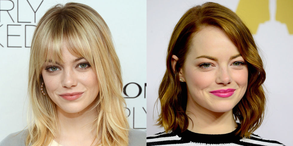 Emma Stone bangs hair