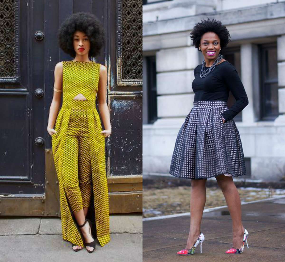 Black Female Fashion: Black Women Street Style & Natural Afro Hairstyles