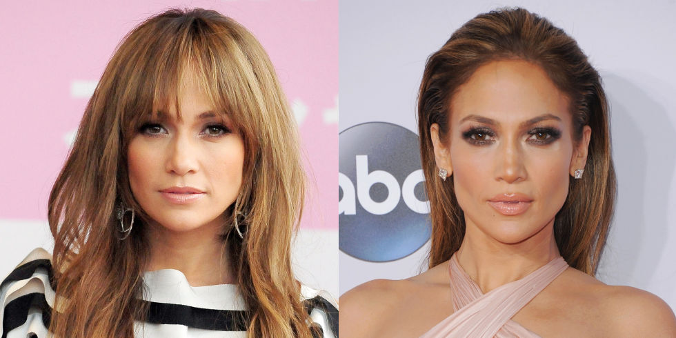 Jennifer Lopez bangs hairstyles