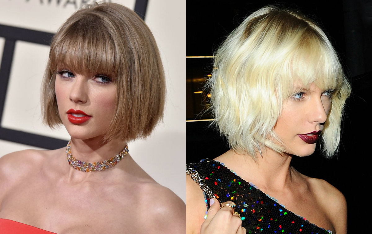 Taylor Swift Bob Hairstyles With Bangs