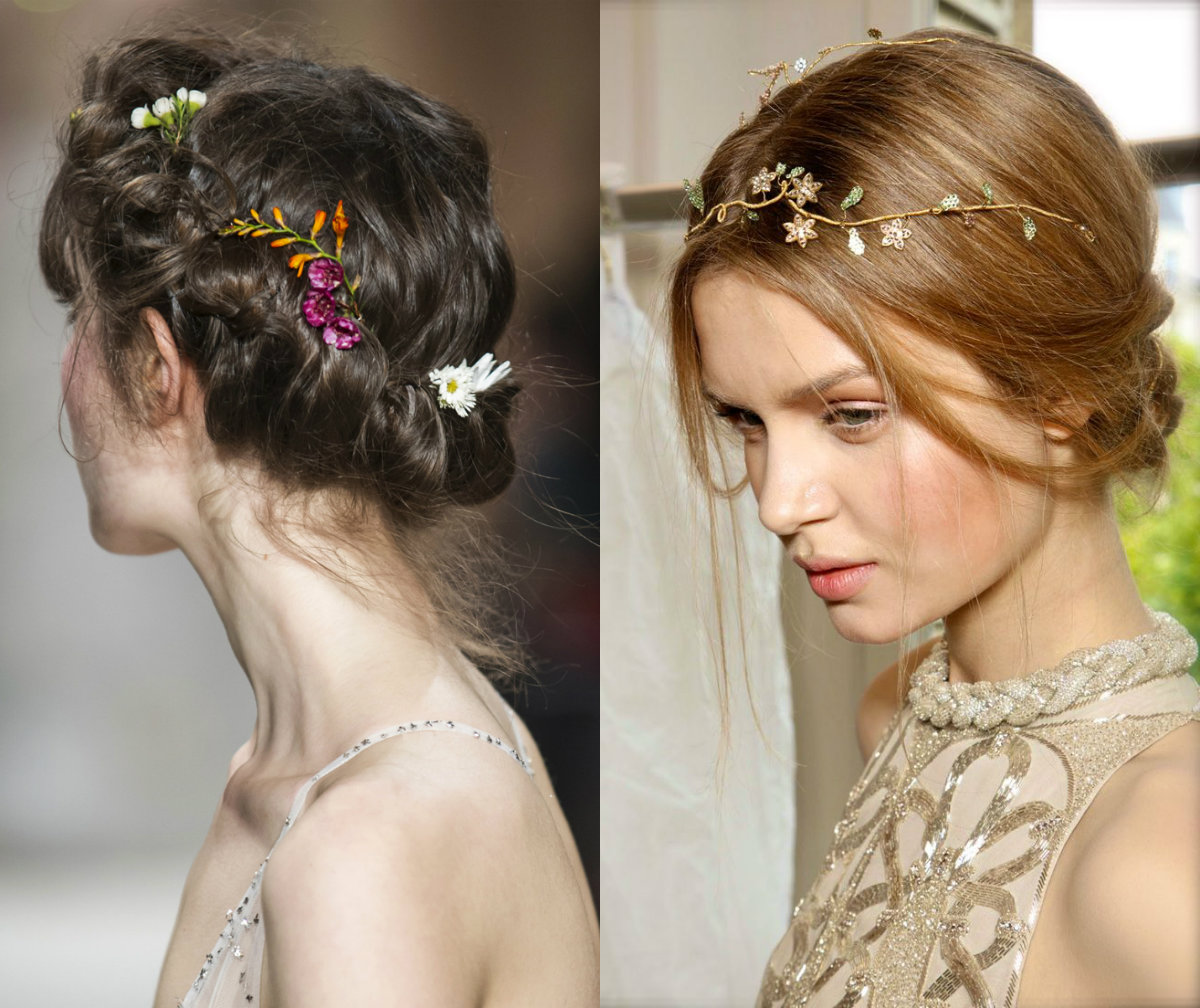 Valentino jewel flowers for bridal hairstyles
