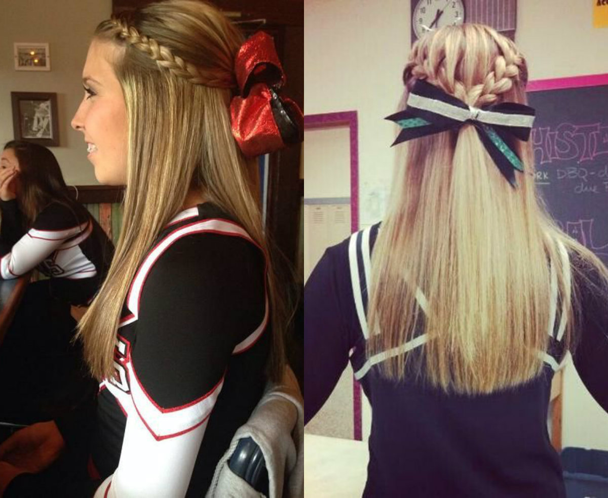 Model 17 Cute Cheer Hairstyles