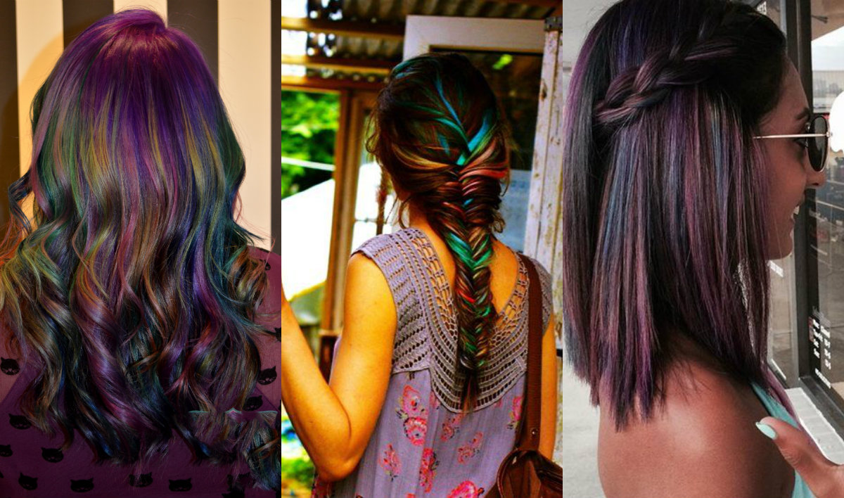 brunette hair oil slick hair colors 2017