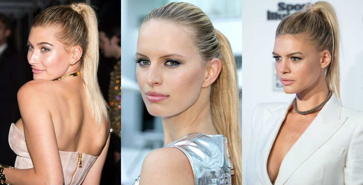 business style high sleek ponytails