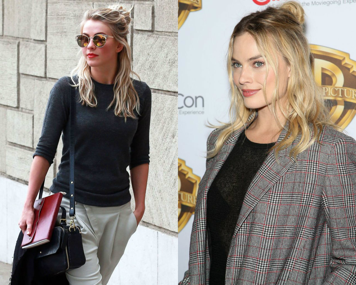 Celebrity Half Up Down Bun Hairstyles