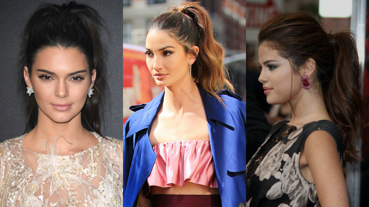celebrity high wavy ponytail hairstyles for work