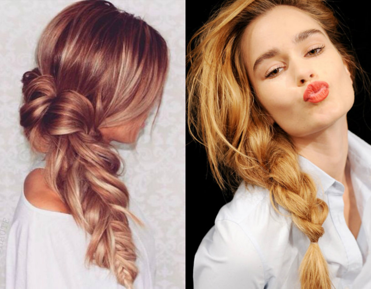 Tremendous How To Make A Cute Messy Side Braid Braids Hairstyle Inspiration Daily Dogsangcom