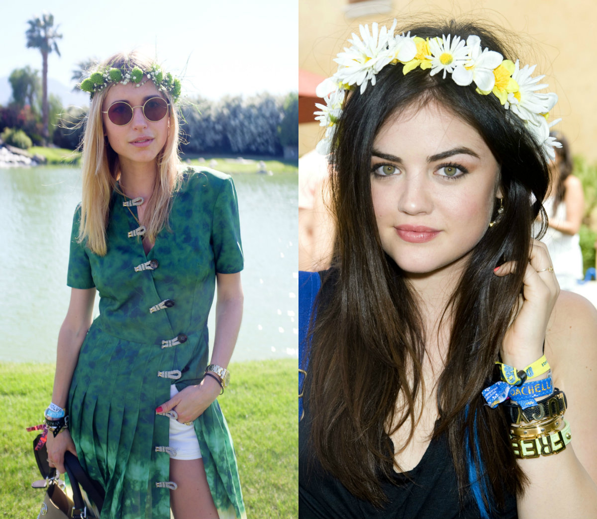 festival hair with flower crowns