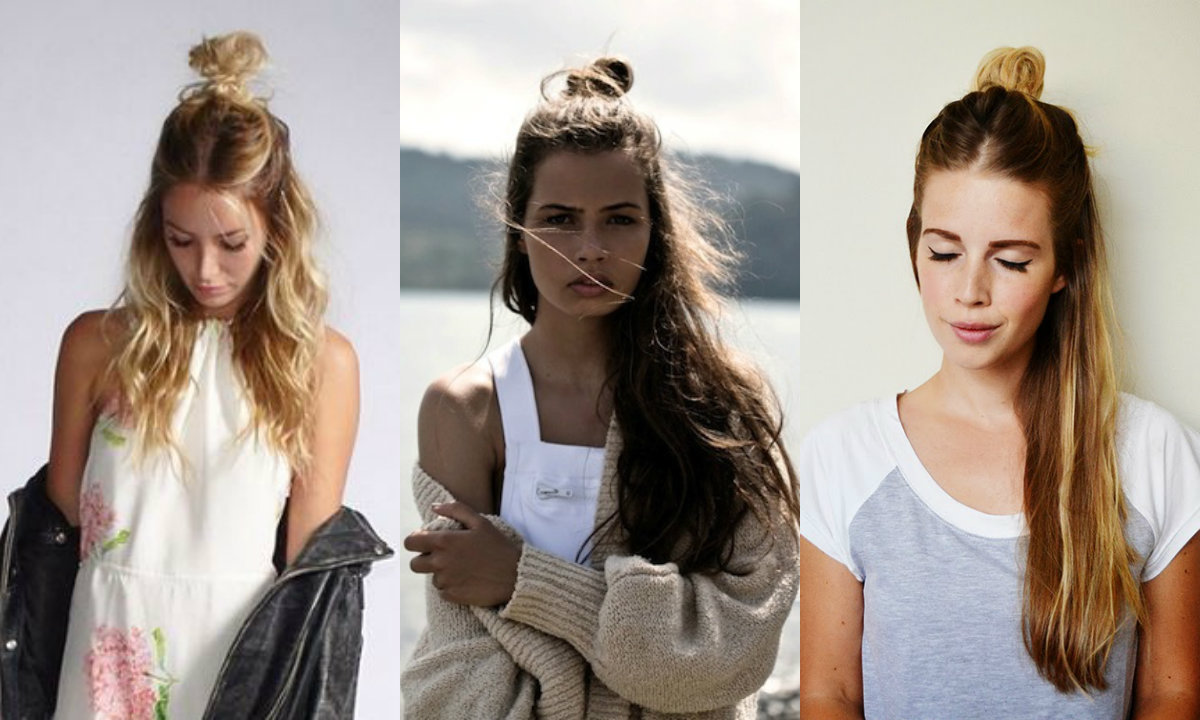Half Up Top Knots Hairstyles For Everyday Non-Casual Looks ...