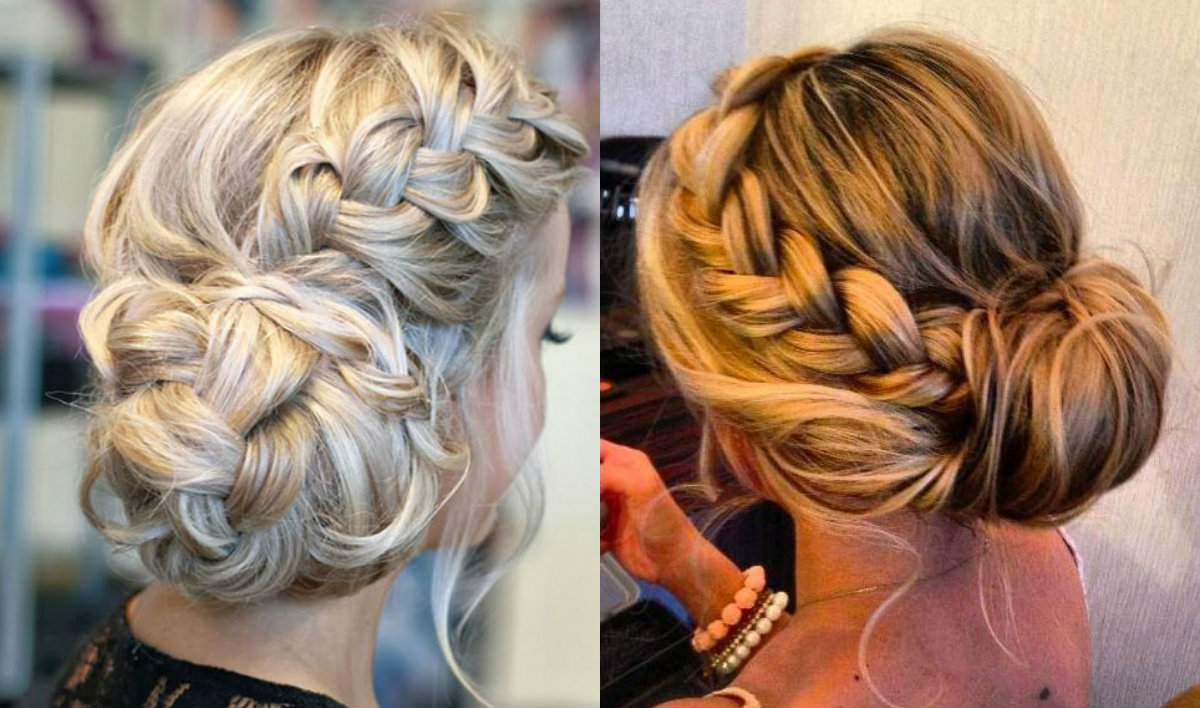 holiday braided bun hairstyles